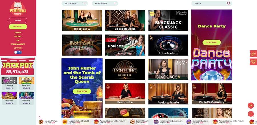 live casino maneki