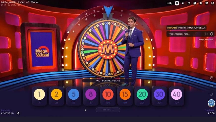 Live mega wheel spelen