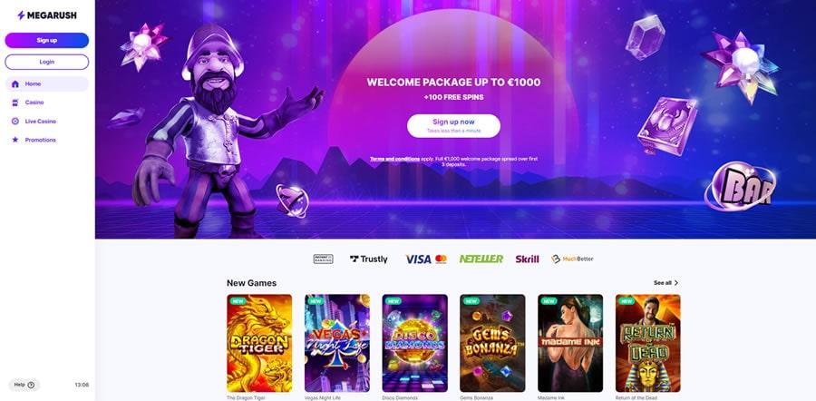 MegaRush casino index