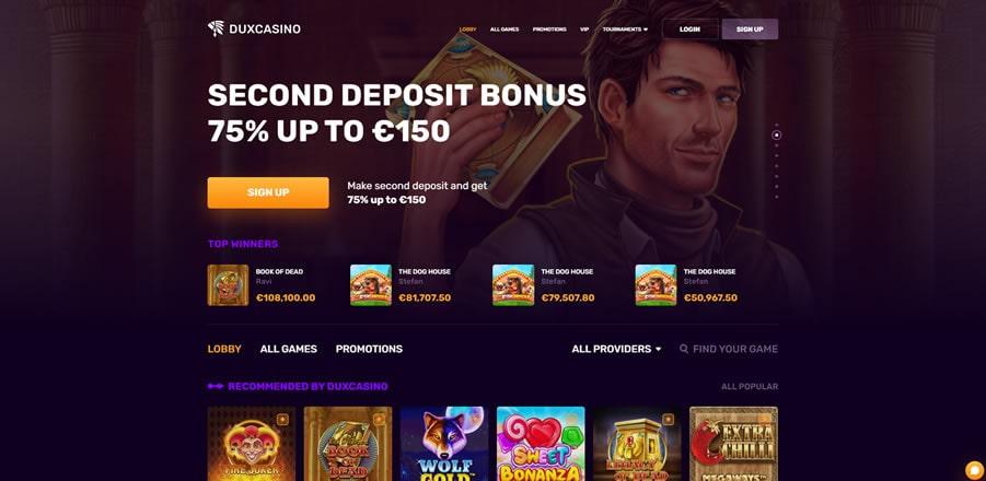 dux casino index
