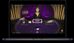 Online Blackjack laptop